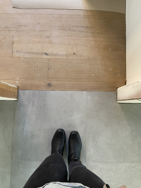 modern flooring transition
