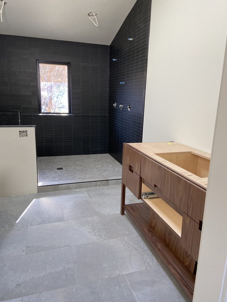 midcentury bathroom design