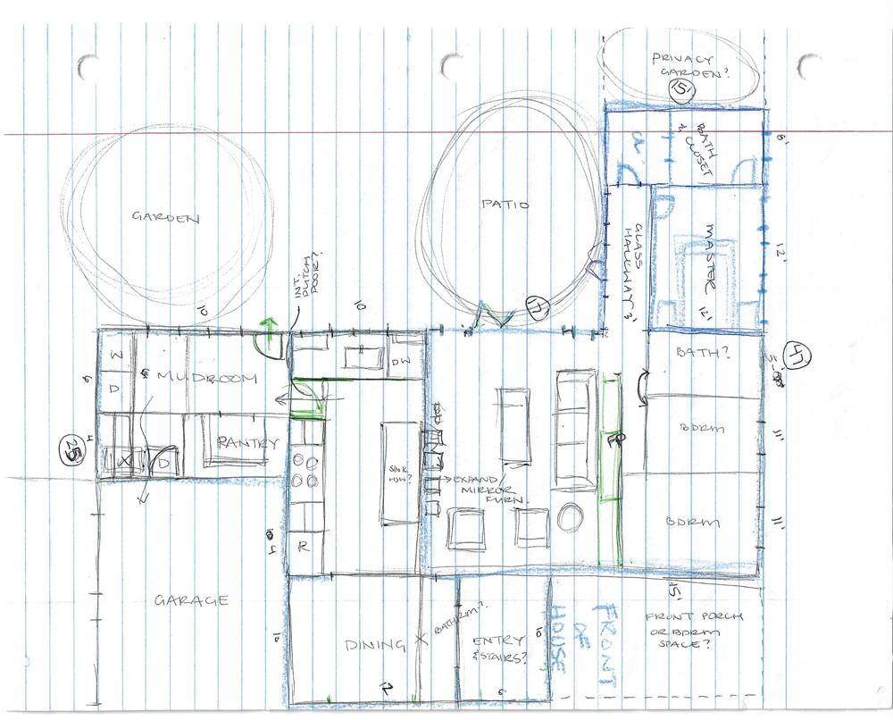 refined floor plan sketch