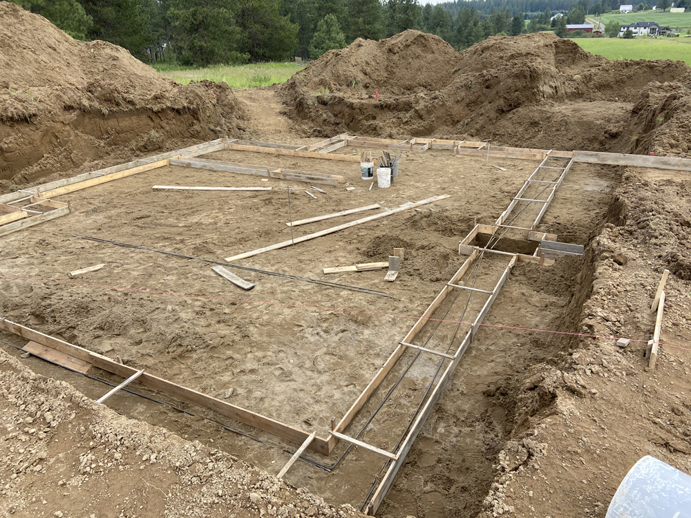 footing forms laid out