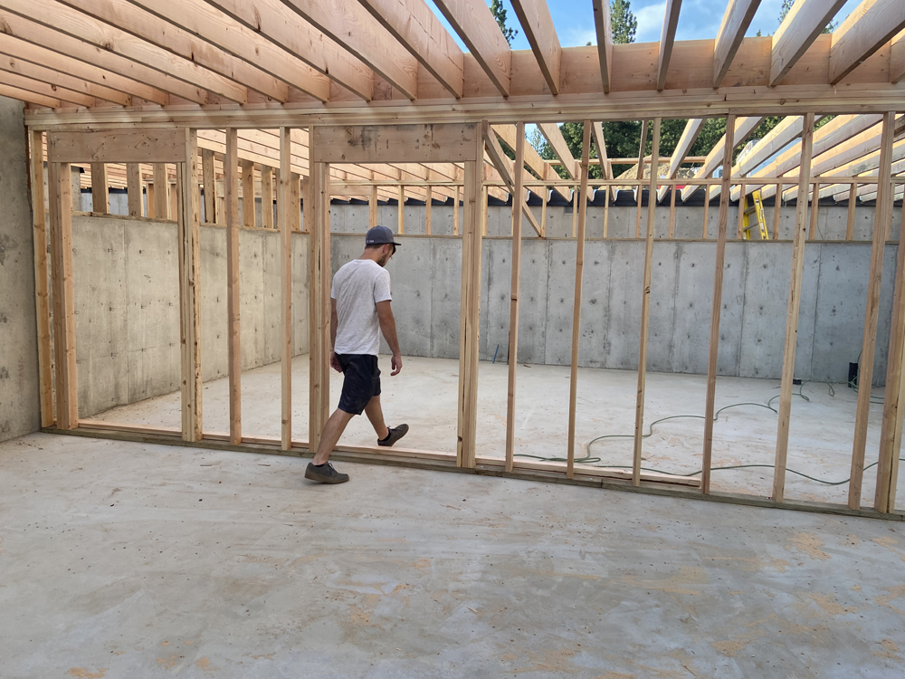 basement wall framing