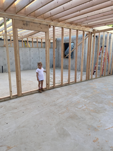 basement walls and ceiling