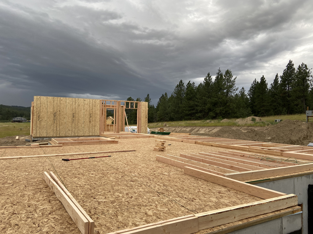 decking of new home construction