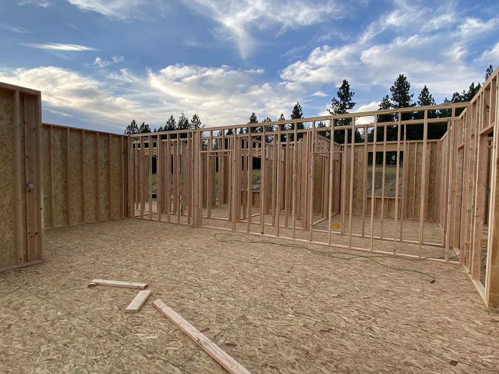 new build home framing