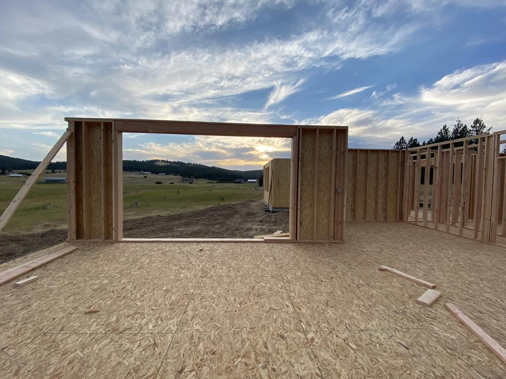 framed window opening