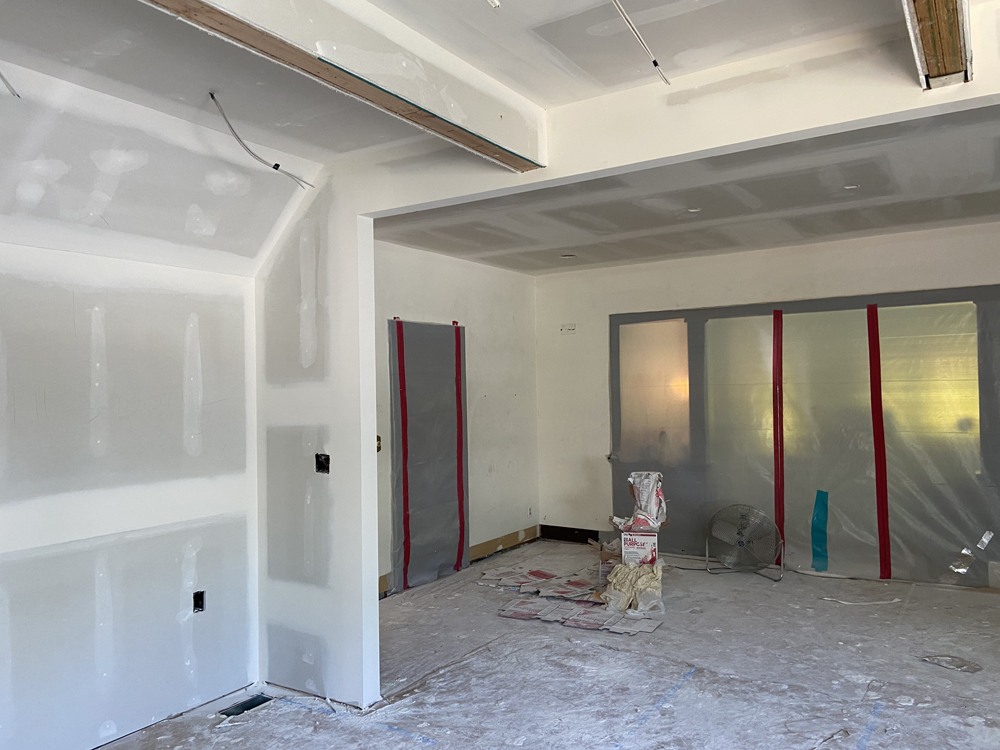drywall phase on renovation