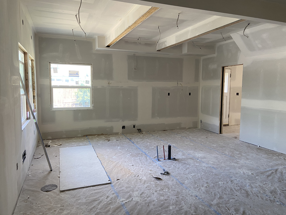 kitchen remodel with ceiling beams