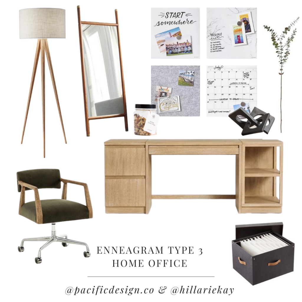 enneagram type 3 home office design