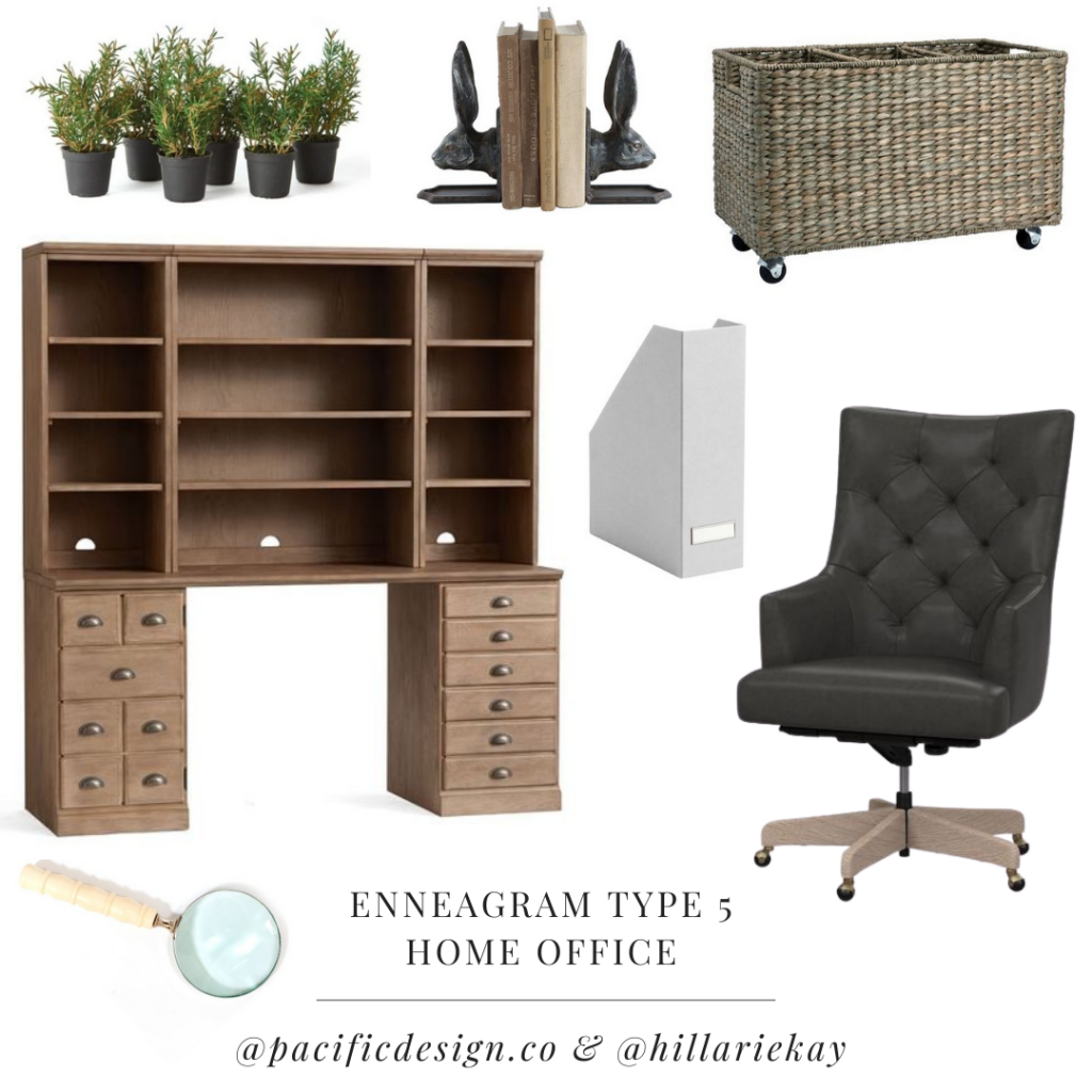 enneagram type 5 home office design