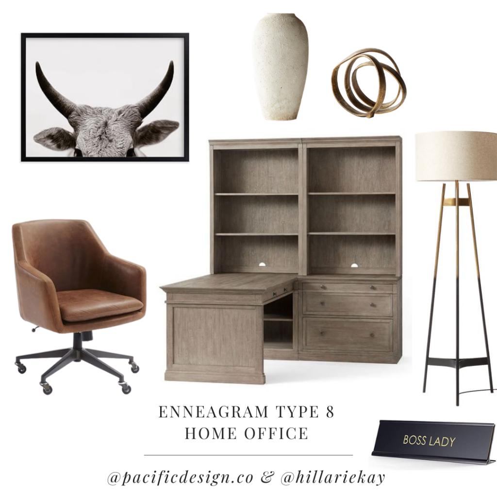 enneagram type 8 home office design