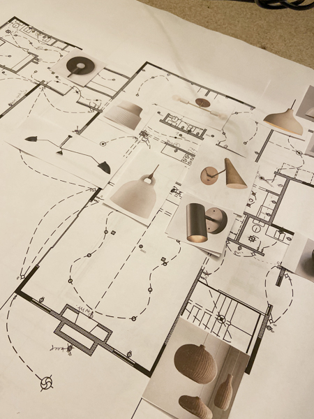 designer lighting plan