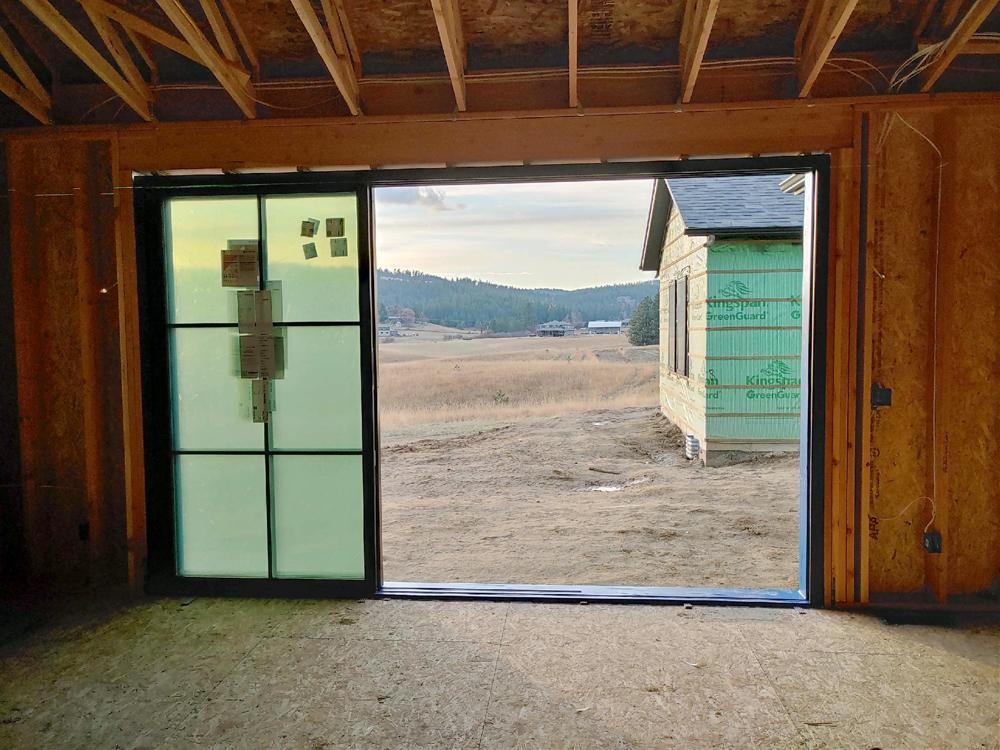 oversized sliding door