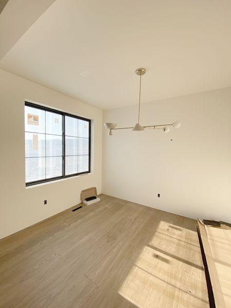 oak floors in dining room