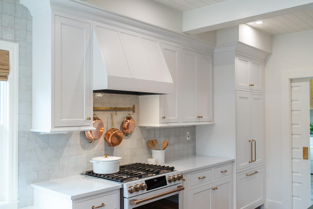 White kitchen with white countertops