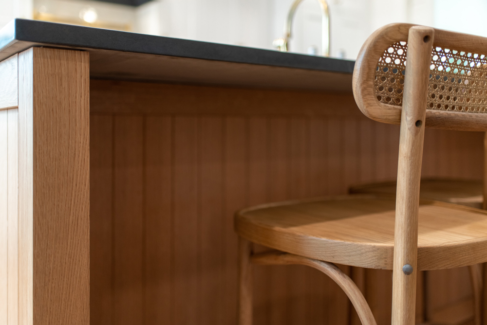 Cane counter stools
