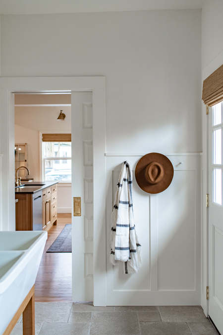 mudroom with wainscot