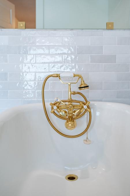 vintage bathtub brass faucet